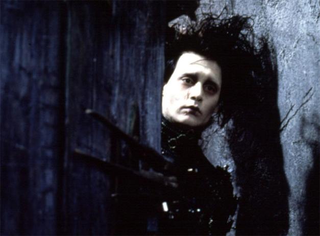 Scene from Tim Burton's Edward Scissorhands starring Johnny Depp
