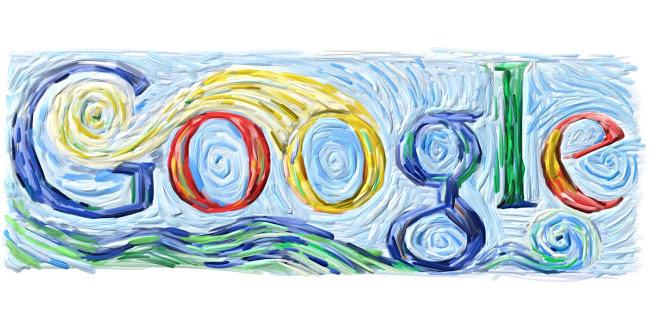 Google doodle Van Gogh 152nd birthday