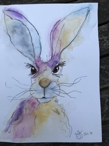 watercolour-hare 1