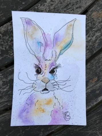 watercolour-hare-postcard