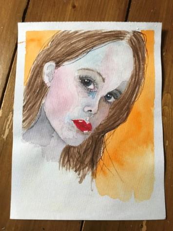 watercolour portrait 12