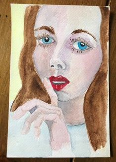 watercolour portrait 5