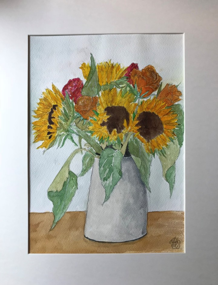 sunflowers finished