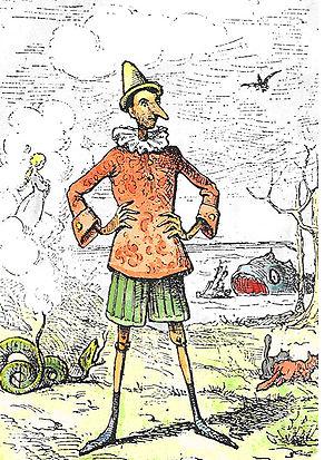 original Pinocchio illustration