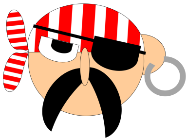 pirate head printable