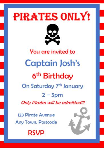 Pirate invite simple