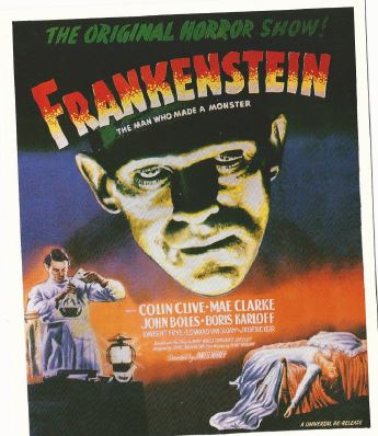Original poster for James Whale's 1931 classic 'Frankenstein'