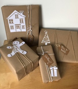 paper cut wrapping