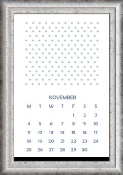 november calendar 1