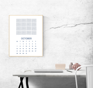 october calendar 1