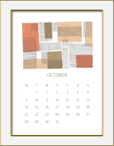 october calendar 3