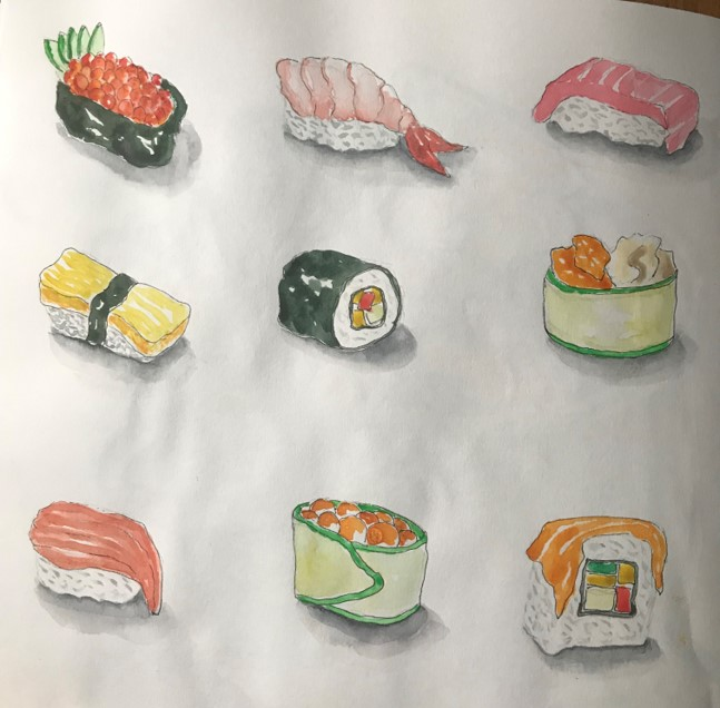 sushi-sketch