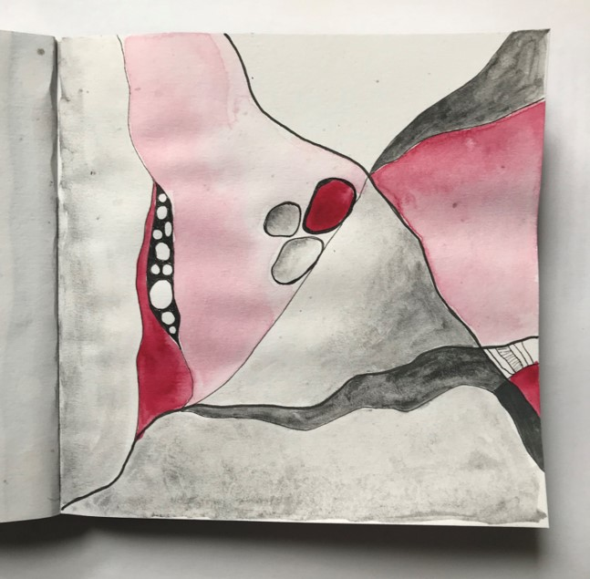 charcaol abstract 4