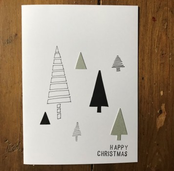 Trees Christmas Card