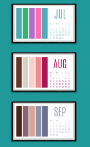 Colour paletter calendar Jul to Sep