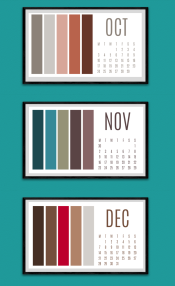 Colour paletter calendar Oct to Dec