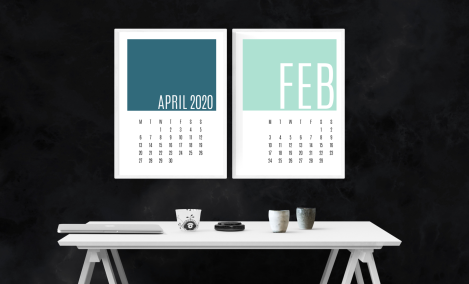 minimal colour calendar