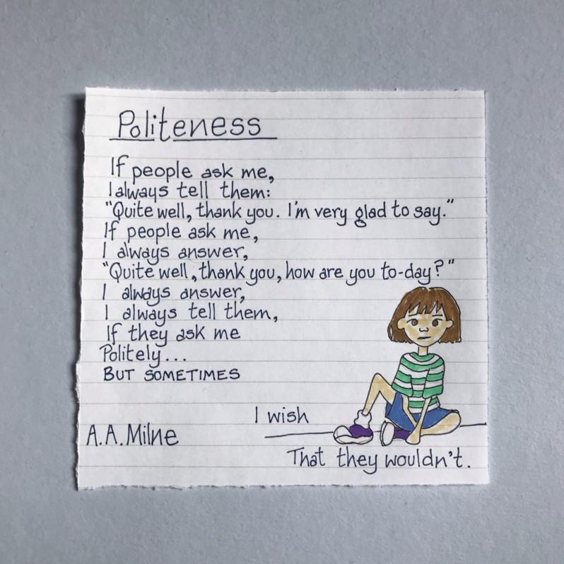 A.A.Milne Poem