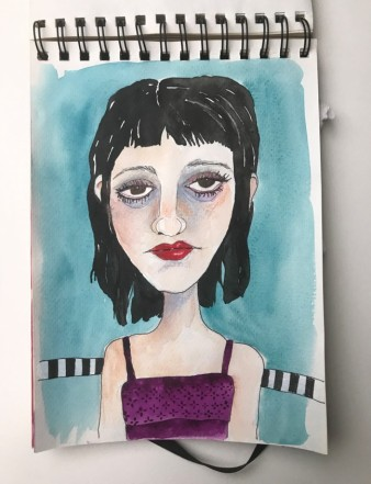 Girl with Stripes